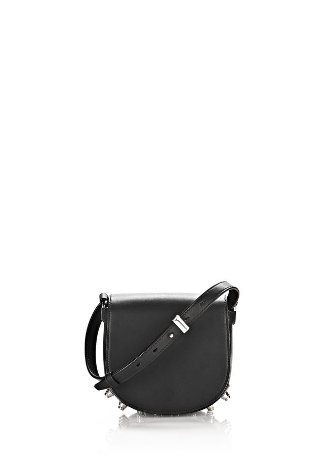ALEXANDER WANG mini-bags MINI LIA IN BLACK WITH RHODIUM