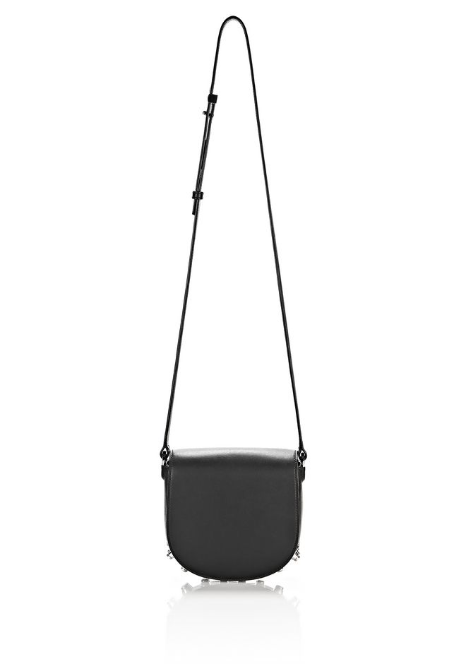 ALEXANDER WANG MINI LIA IN BLACK WITH RHODIUM Shoulder bag Adult 12_n_e