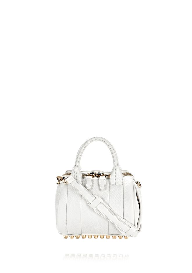 ALEXANDER WANG Shoulder bags Women MINI ROCKIE IN PEROXIDE WITH PALE GOLD