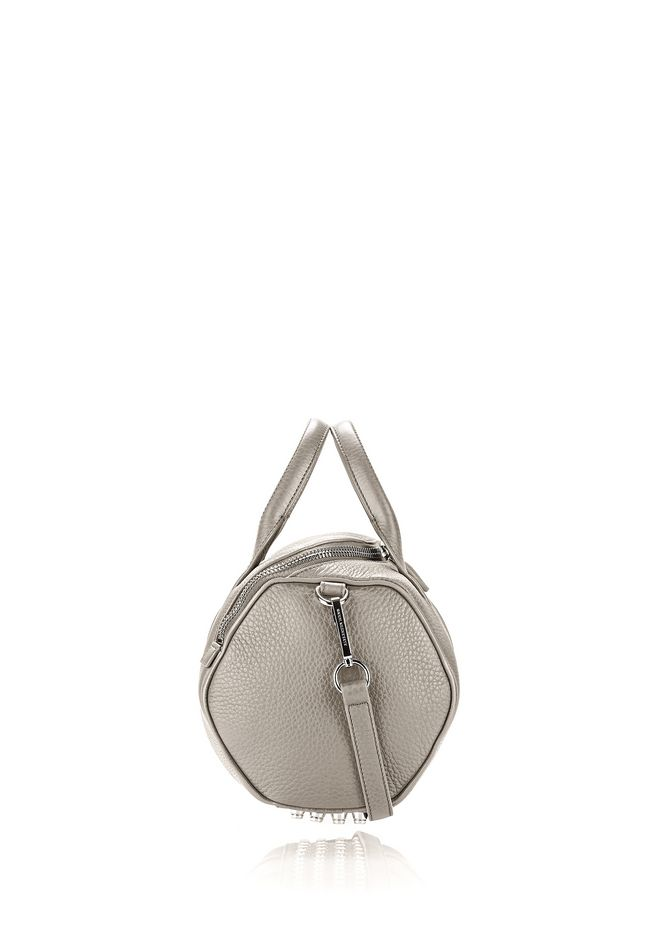 ALEXANDER WANG ROCKIE IN PEBBLED OYSTER WITH RHODIUM Shoulder bag Adult 12_n_e