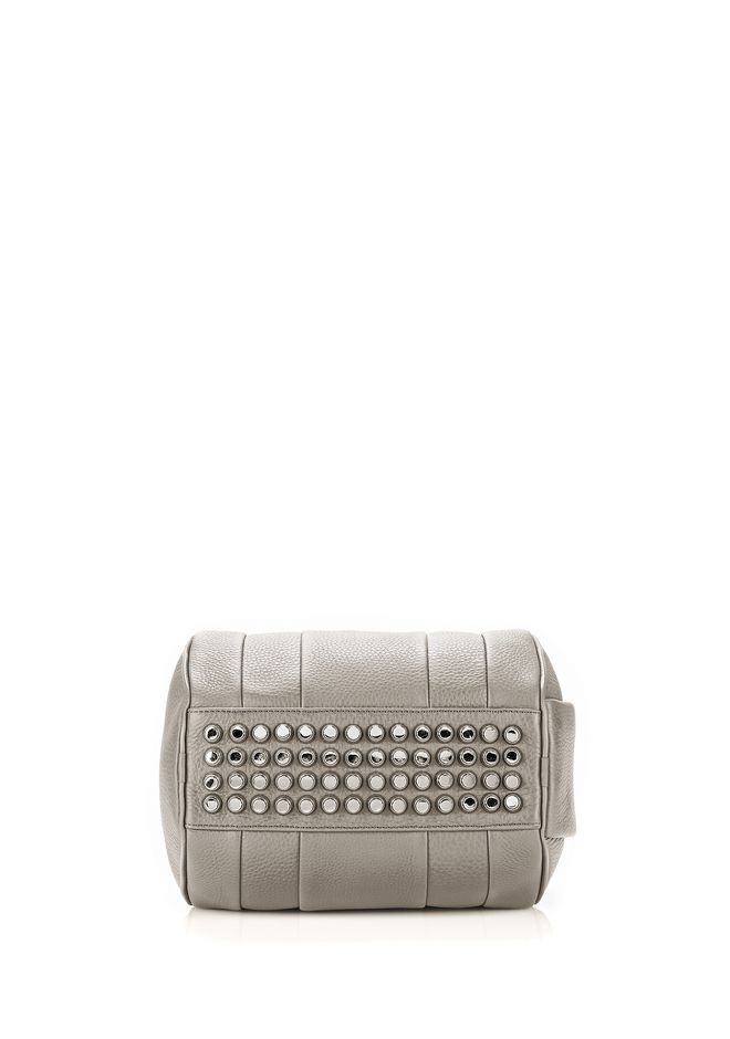 ALEXANDER WANG ROCKIE IN PEBBLED OYSTER WITH RHODIUM Shoulder bag Adult 12_n_r