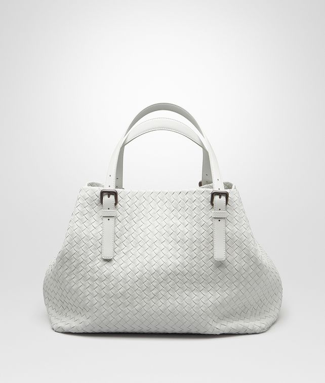 0d1cf0378584 BOTTEGA VENETA LARGE TOTE BAG IN BIANCO INTRECCIATO NAPPA Top Handle Bag