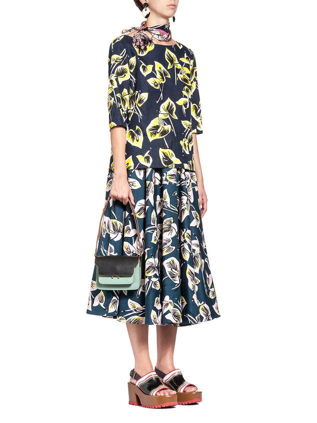 Marni MINI TRUNK bag in saffiano calfskin  Woman - 5