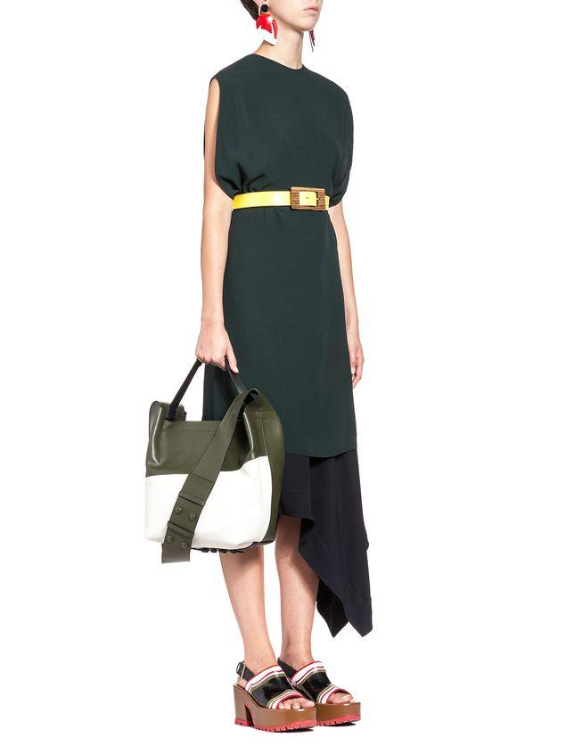 Marni BUCKAROO bag in bi-coloured calfskin Woman - 5