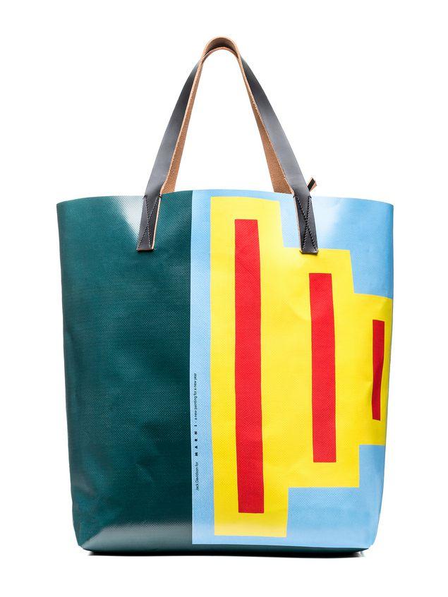 Marni SHOPPING bag in PVC print by Davidson  Woman
