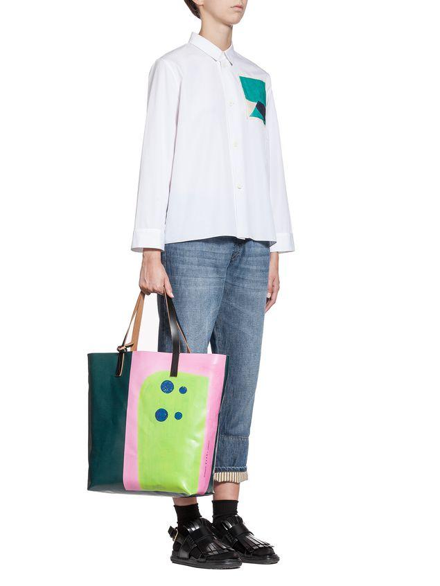 Marni SHOPPING bag in PVC print by Davidson  Woman - 4