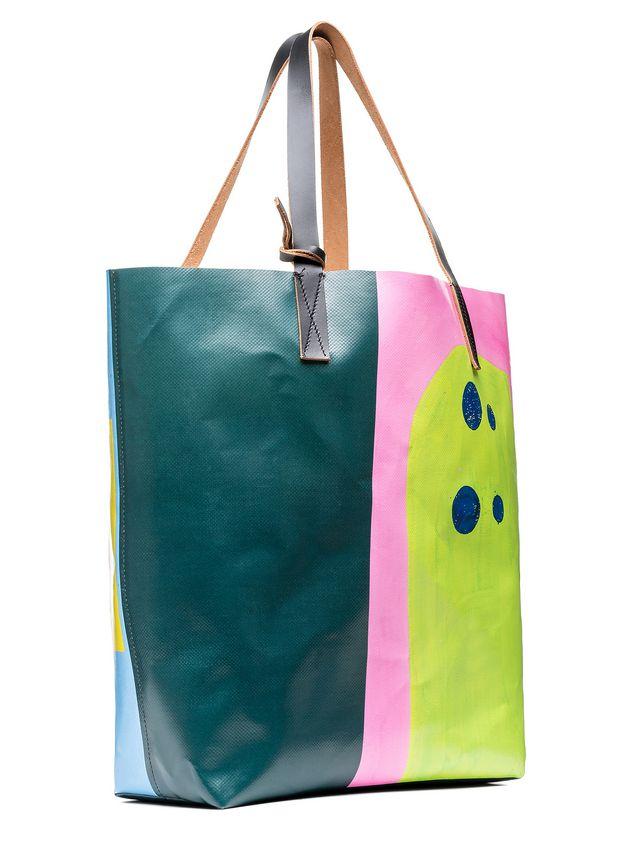 Marni SHOPPING bag in PVC print by Davidson  Woman - 2