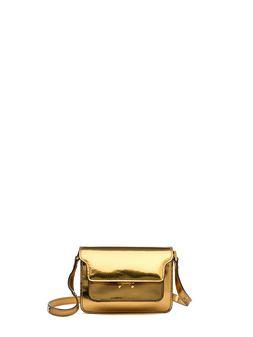 Marni MINI TRUNK bag in polished calfskin Woman