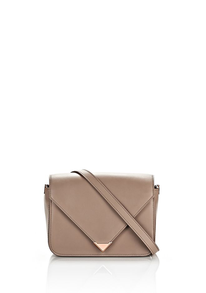 ALEXANDER WANG Shoulder bags Women PRISMA ENVELOPE SLING IN LATTE WITH ROSE GOLD