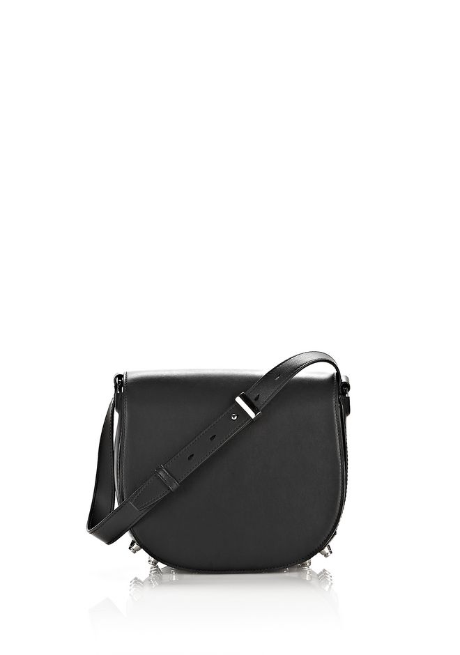 ALEXANDER WANG bags-classics LIA IN BLACK WITH RHODIUM