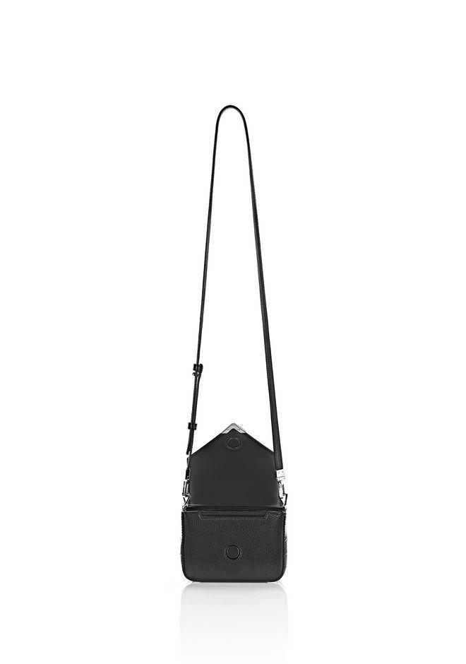 ALEXANDER WANG MINI PRISMA ENVELOPE SLING IN CROC EMBOSSED BLACK WITH RHODIUM Shoulder bag Adult 12_n_a