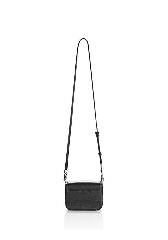ALEXANDER WANG MINI PRISMA ENVELOPE SLING IN CROC EMBOSSED BLACK WITH RHODIUM Shoulder bag Adult 12_n_d