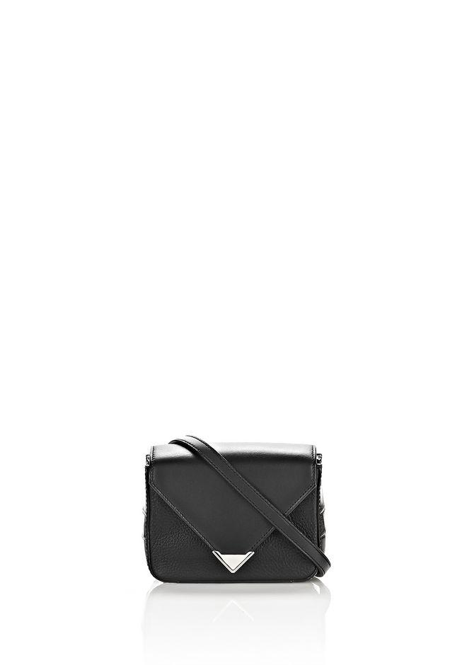 ALEXANDER WANG MINI PRISMA ENVELOPE SLING IN CROC EMBOSSED BLACK WITH RHODIUM Shoulder bag Adult 12_n_f