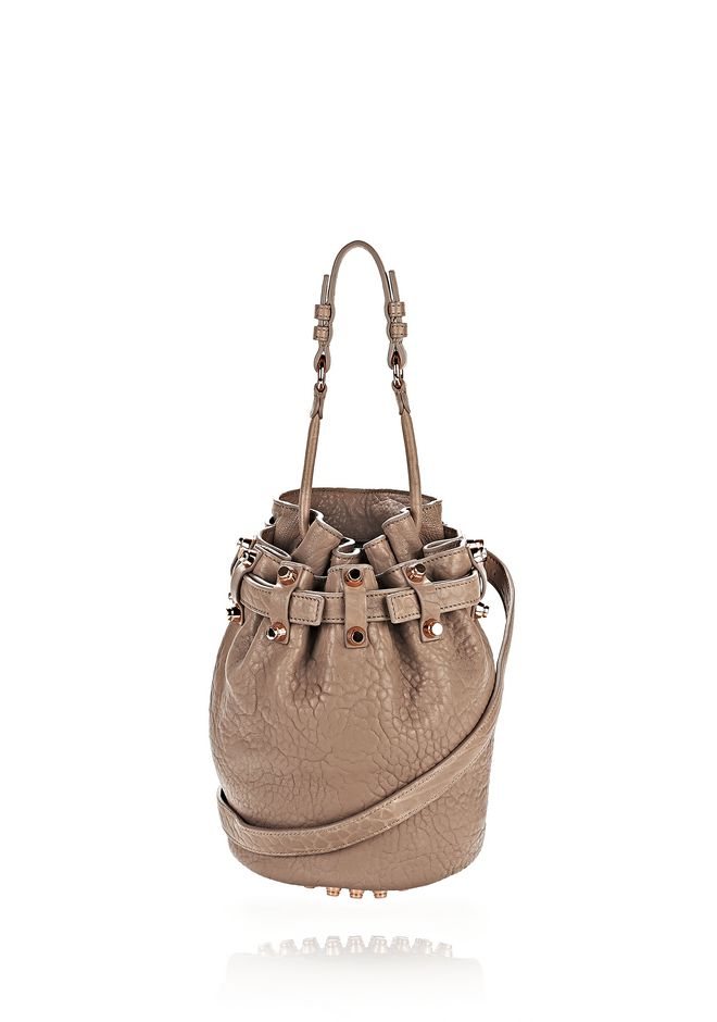 SMALL DIEGO IN PEBBLED LATTE WITH ROSE GOLD | Shoulder Bag ...