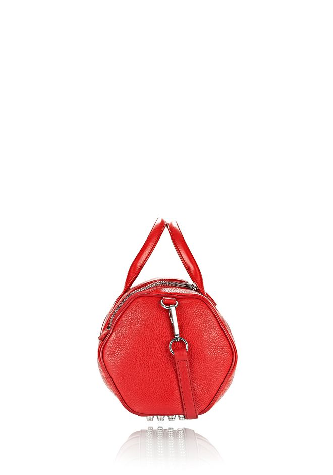 ALEXANDER WANG ROCKIE IN PEBBLED CULT WITH RHODIUM Shoulder bag Adult 12_n_a