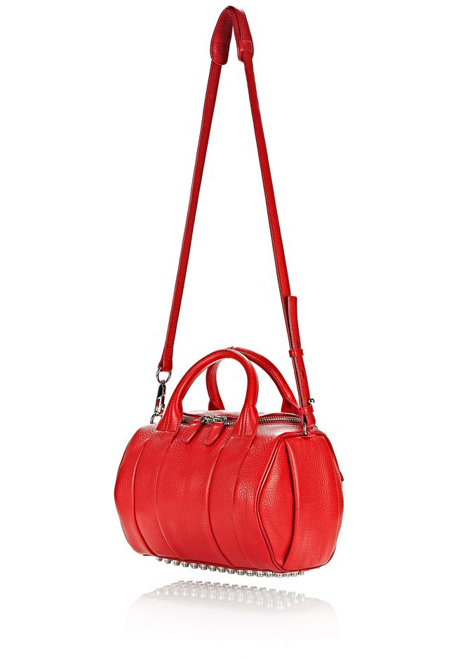 ALEXANDER WANG ROCKIE IN PEBBLED CULT WITH RHODIUM Shoulder bag Adult 12_n_e