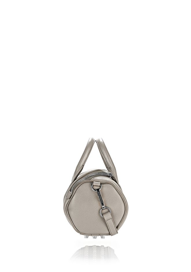 ALEXANDER WANG MINI ROCKIE IN PEBBLED OYSTER WITH RHODIUM Shoulder bag Adult 12_n_a