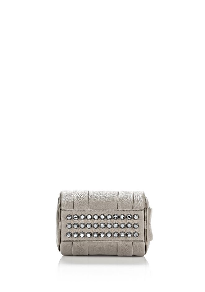 ALEXANDER WANG MINI ROCKIE IN PEBBLED OYSTER WITH RHODIUM Shoulder bag Adult 12_n_d