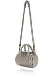 ALEXANDER WANG MINI ROCKIE IN PEBBLED OYSTER WITH RHODIUM Shoulder bag Adult 8_n_e