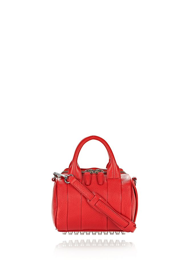 ALEXANDER WANG rockie-rocco MINI ROCKIE IN PEBBLED CULT WITH RHODIUM