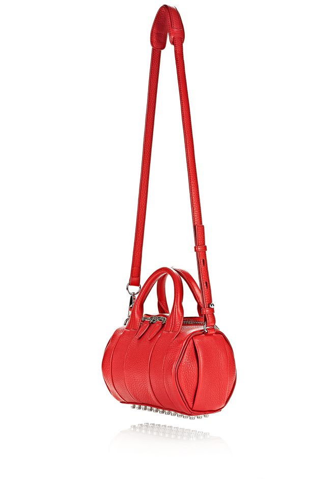 ALEXANDER WANG MINI ROCKIE IN PEBBLED CULT WITH RHODIUM Shoulder bag Adult 12_n_e