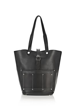 MASON TOTE IN BLACK WITH RHODIUM