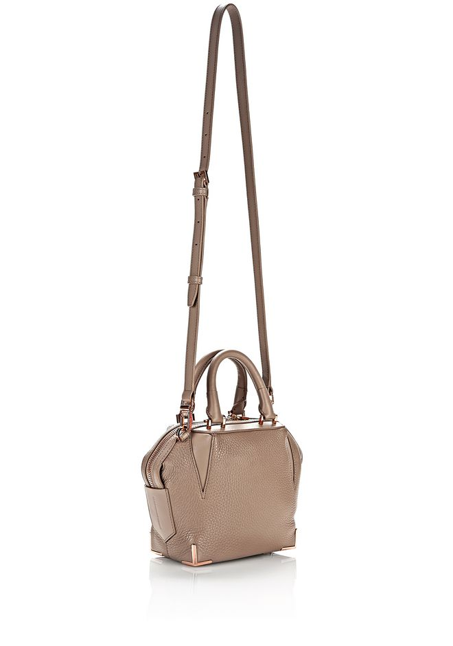 MINI EMILE IN PEBBLED LATTE WITH ROSE GOLD | Shoulder Bag ...