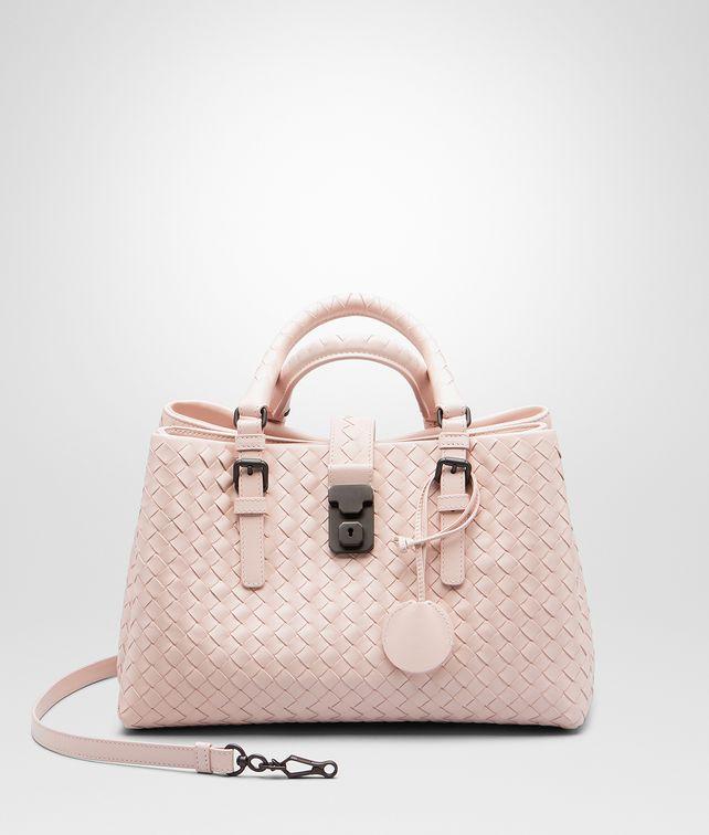 97d9d17ca6d9 BOTTEGA VENETA SMALL ROMA BAG IN PETALE INTRECCIATO CALF Top Handle Bag