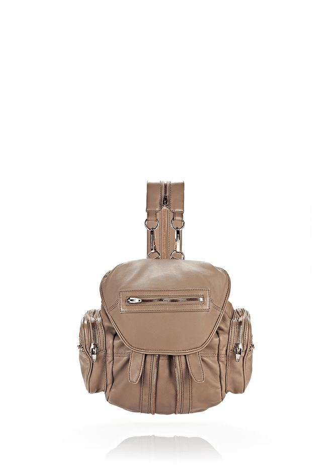 ALEXANDER WANG BACKPACKS Women MINI MARTI IN WASHED LATTE WITH ROSE GOLD