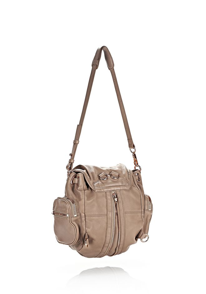 ALEXANDER WANG MINI MARTI IN WASHED LATTE WITH ROSE GOLD BACKPACK Adult 12_n_a
