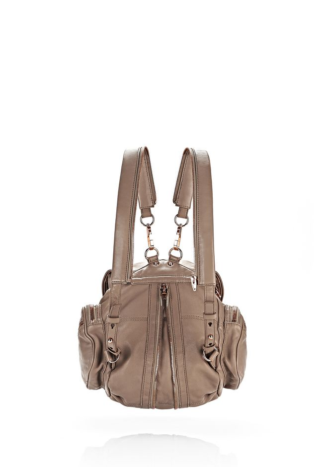 ALEXANDER WANG MINI MARTI IN WASHED LATTE WITH ROSE GOLD BACKPACK Adult 12_n_e