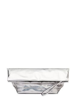 Marni Clutch in glossy lamé with jersey interior  Woman
