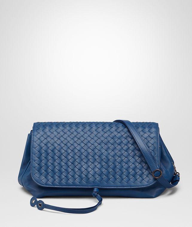 1cffe7df0256b BOTTEGA VENETA MESSENGER BAG IN PACIFIC INTRECCIATO NAPPA Crossbody and  Belt Bags
