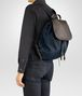 BOTTEGA VENETA BACKPACK IN TOURMALINE TECHNICAL CANVAS AND ESPRESSO INTRECCIATO CALF Messenger Bag U ap