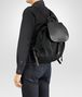 BOTTEGA VENETA BACKPACK IN NERO TECHNICAL CANVAS AND INTRECCIATO CALF Backpack Man ap