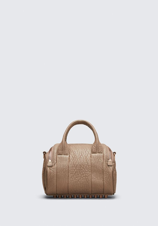 ALEXANDER WANG MINI ROCKIE IN PEBBLED LATTE WITH ROSE GOLD Shoulder bag Adult 12_n_d