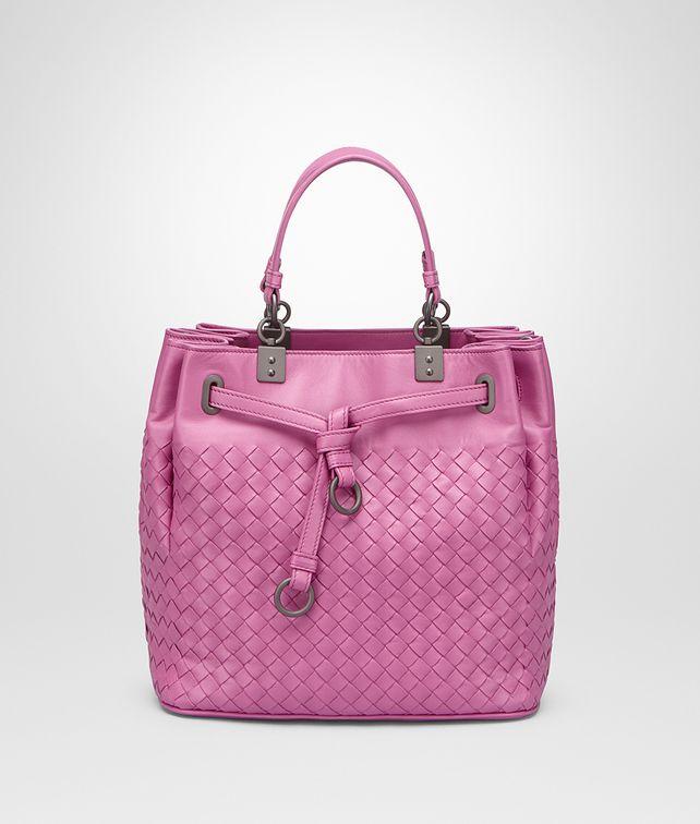 287549737b28 BOTTEGA VENETA BUCKET BAG IN PEONY INTRECCIATO NAPPA Crossbody and Belt Bags