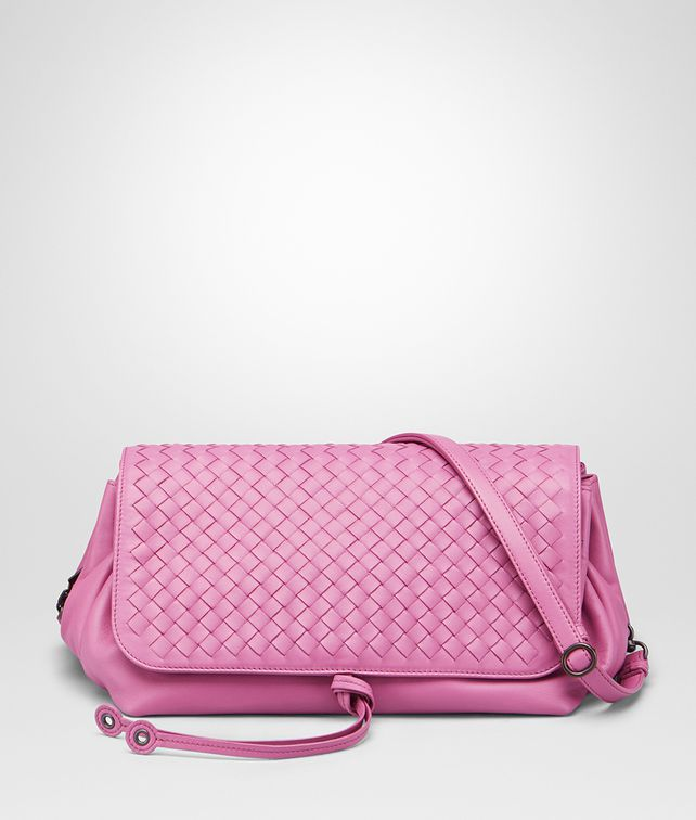 ab9de188e742 BOTTEGA VENETA MESSENGER BAG IN PEONY INTRECCIATO NAPPA Crossbody and Belt  Bags