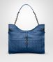 BOTTEGA VENETA BEVERLY '71/'16 IN PACIFIC INTRECCIATO NAPPA Shoulder Bag Woman fp