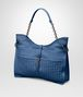 BOTTEGA VENETA BEVERLY '71/'16 IN PACIFIC INTRECCIATO NAPPA Shoulder or hobo bag D rp