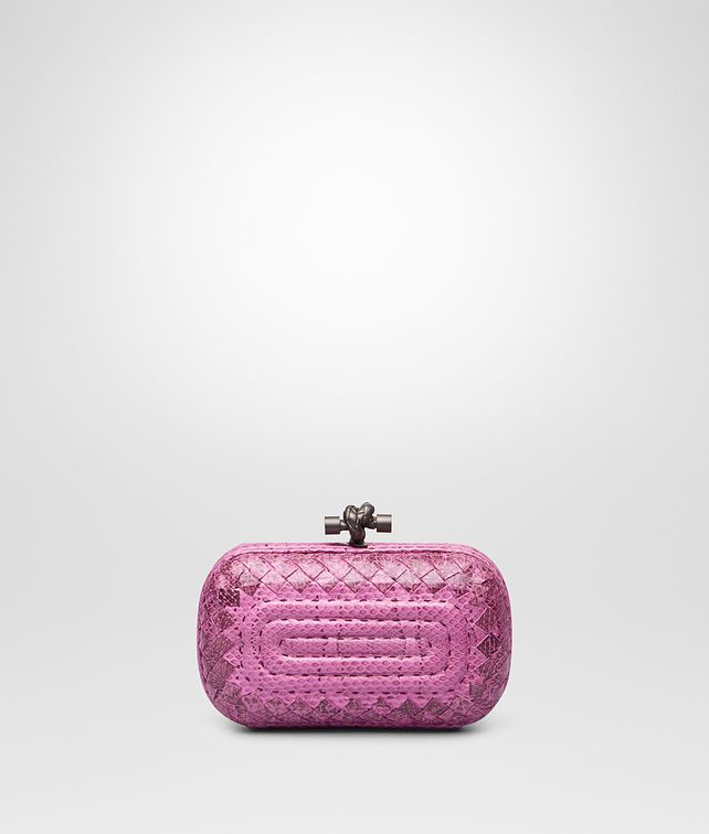 BOTTEGA VENETA KNOT IN PEONY EMBROIDERED AYERS Clutch Woman fp