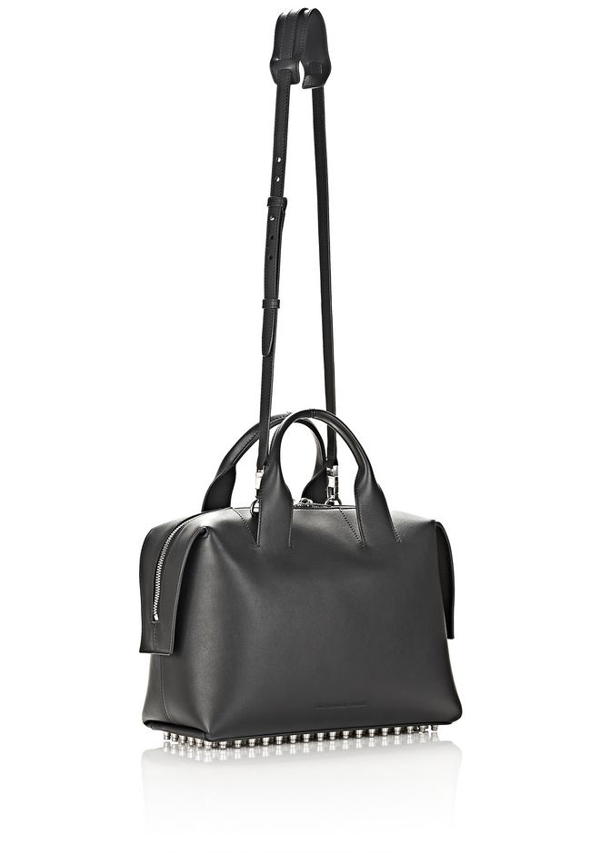 ALEXANDER WANG ROGUE LARGE SATCHEL IN BLACK WITH RHODIUM Shoulder bag Adult 12_n_a