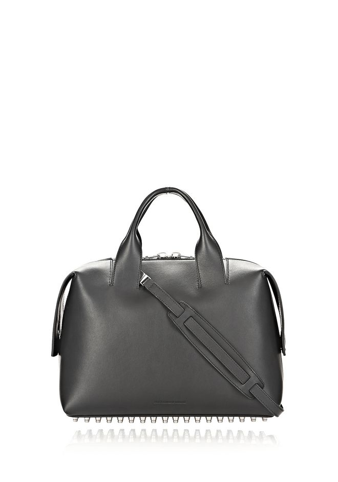 ALEXANDER WANG ROGUE LARGE SATCHEL IN BLACK WITH RHODIUM Shoulder bag Adult 12_n_d