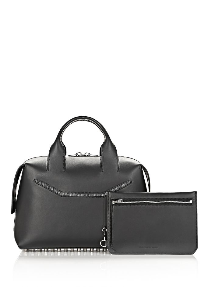 ALEXANDER WANG ROGUE LARGE SATCHEL IN BLACK WITH RHODIUM Shoulder bag Adult 12_n_e
