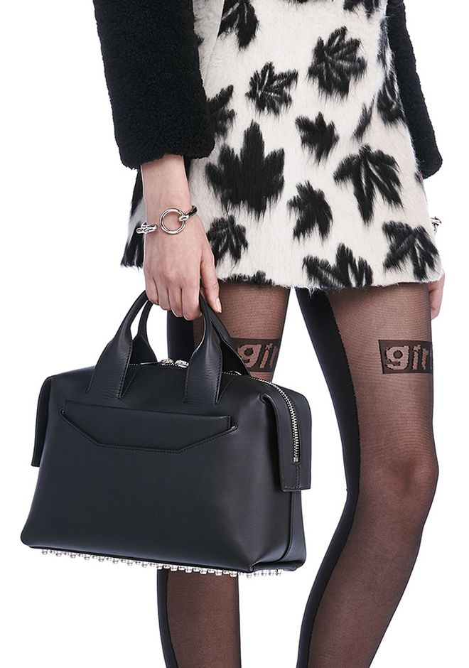 ALEXANDER WANG ROGUE LARGE SATCHEL IN BLACK WITH RHODIUM Shoulder bag Adult 12_n_r