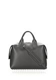 ALEXANDER WANG ROGUE LARGE SATCHEL IN BLACK WITH RHODIUM Shoulder bag Adult 8_n_d