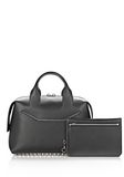 ALEXANDER WANG ROGUE LARGE SATCHEL IN BLACK WITH RHODIUM Shoulder bag Adult 8_n_e