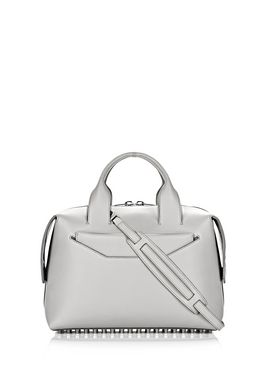 ROGUE LARGE SATCHEL IN HEATHER GREY WITH RHODIUM