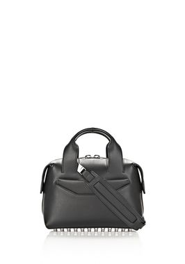 ROGUE SMALL SATCHEL IN BLACK WITH RHODIUM