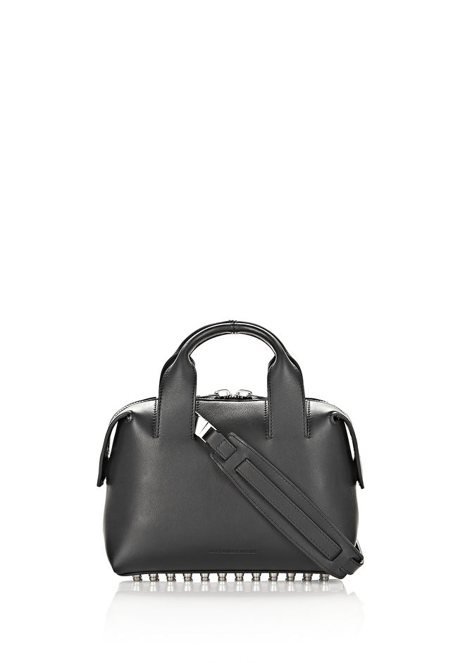 ALEXANDER WANG ROGUE SMALL SATCHEL IN BLACK WITH RHODIUM Shoulder bag Adult 12_n_d